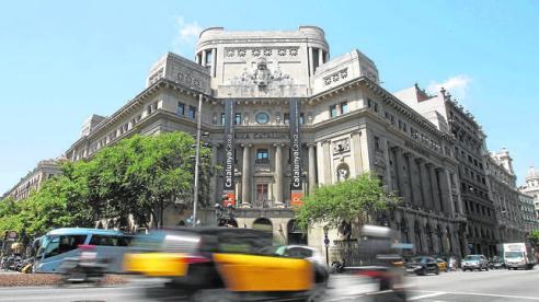 The Catalunya Caixa bank headquarters is seen in central Barcelona