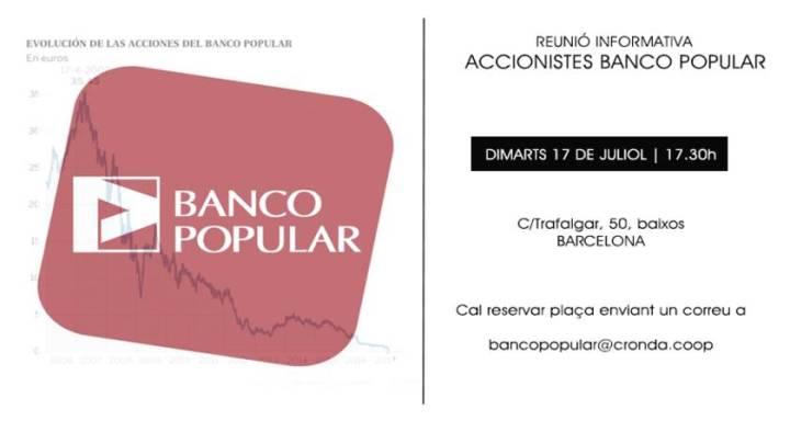 Reunión informativa urgente – Accionistas BancoPopular