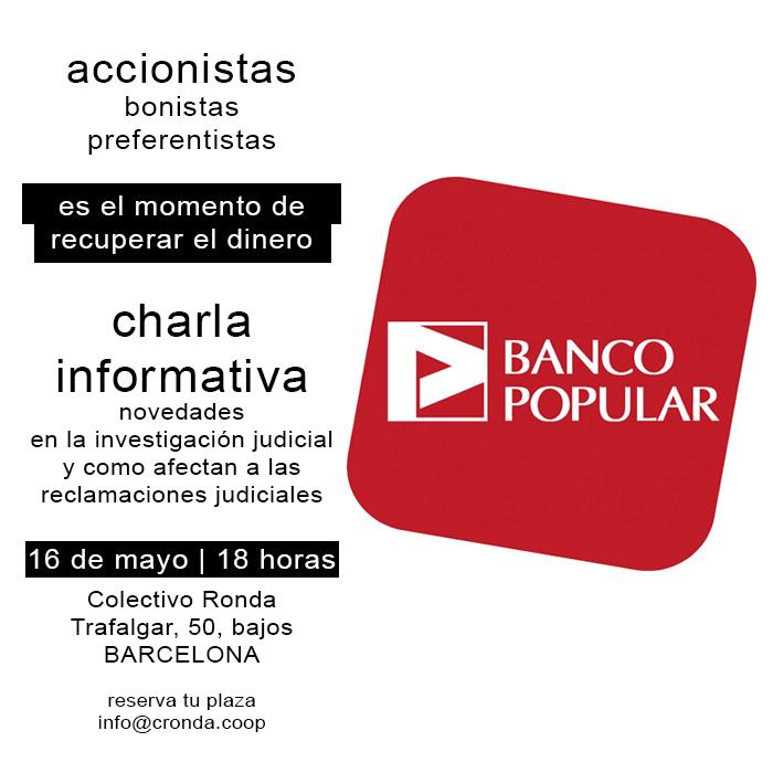 Accionistas Banco Popular: ya es hora dereclamar.